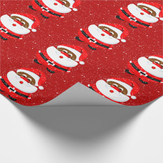 African American Santa Claus Christmas holiday Wrapping Paper
