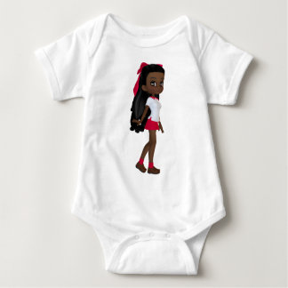 African American School Girl Baby Bodysuit