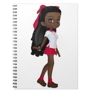 African American School Girl Spiral Notebook