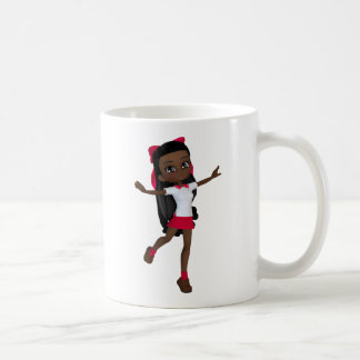 African american school girl t-shirt coffee mug