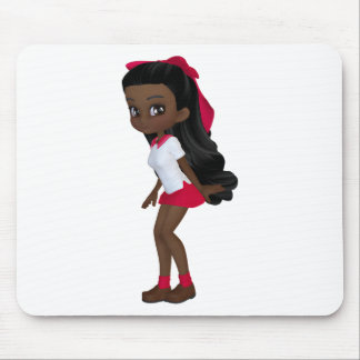 African american schoolg girl mouse pads
