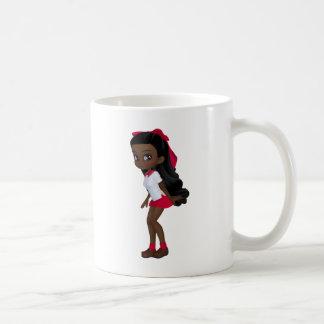 African american schoolg girl basic white mug