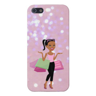 african american shopping woman iphone case case for iPhone 5/5S