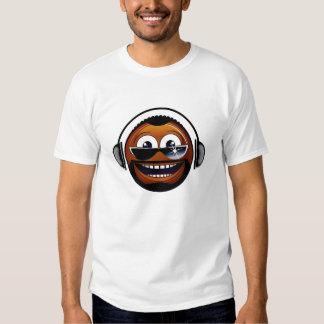 African-american smiley dj tshirt