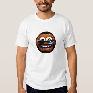 African-american smiley shirt