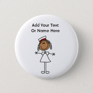 African American Stick Figure t-shirts and Gifts 6 Cm Round Badge