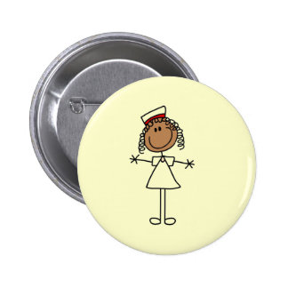 African American Stick Figure Tshirts and Gifts 6 Cm Round Badge