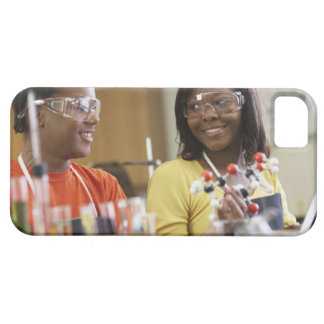 African American teenagers in science class iPhone 5 Covers