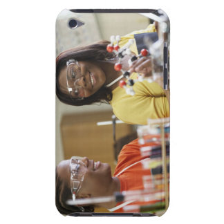 African American teenagers in science class iPod Touch Case