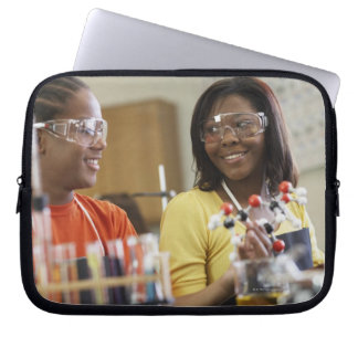 African American teenagers in science class Laptop Sleeve