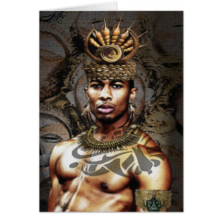 African American Tribal Prince Card