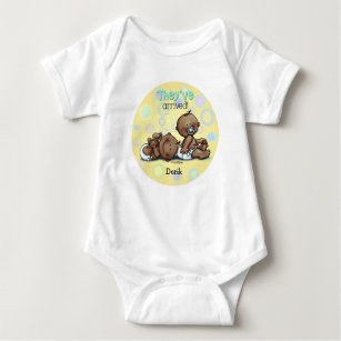 African American Twins Arrived Baby Bodysuit