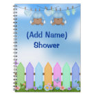 African American Twins Baby Shower Book