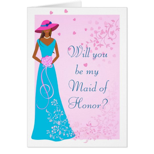 African American - Wedding Party Card