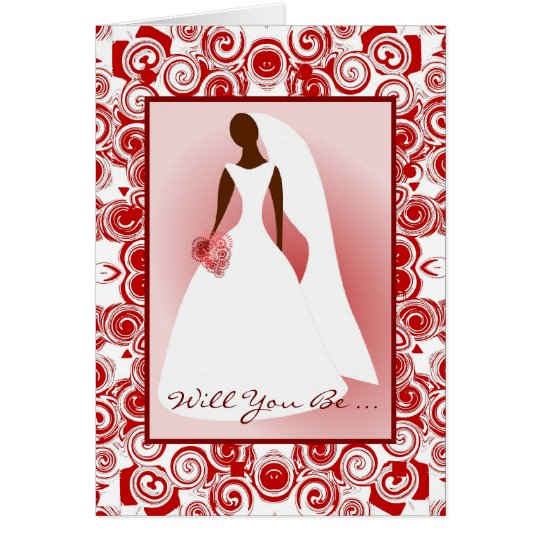 African American-Will You Be  My Bridemaid Card