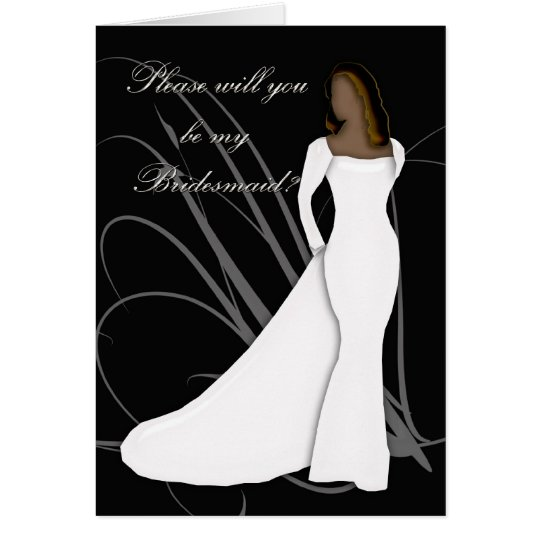 African American Will you be my bridesmaid black