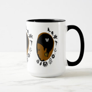 African American woman 15 oz Ringer Mug