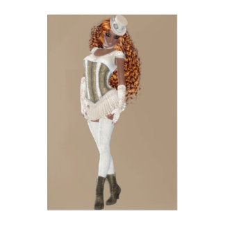 "African American Woman 24"" x 36"" Acrylic Wall Art"