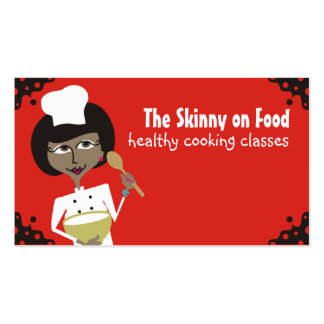 african american woman chef baking biz cards business cards