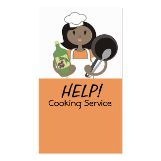 African American woman chef olive oil cooking card Business Card Template
