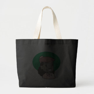 African American Woman Golfer Canvas Bags