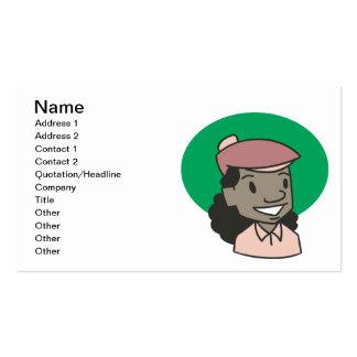 African American Woman Golfer Business Card Template