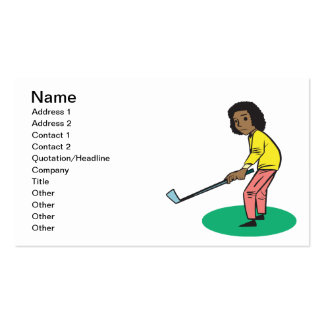 African American Woman Golfer Business Card Templates