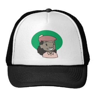 African American Woman Golfer Mesh Hat