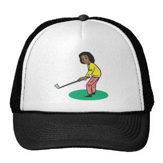 African American Woman Golfer Hats