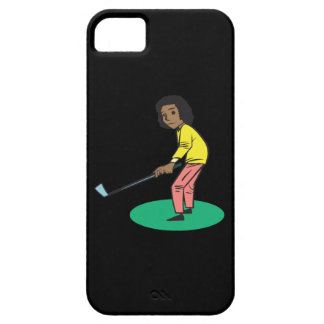 African American Woman Golfer iPhone 5 Cases