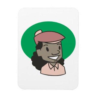 African American Woman Golfer Rectangular Photo Magnet
