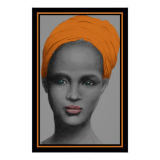 African American Woman Portrait Poster