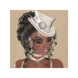 African American Woman Premium Wrapped Canvas