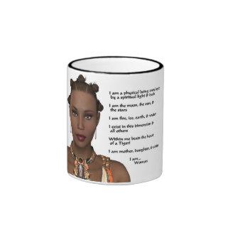 African-American Woman Pride Ringer Mug