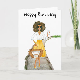 cards birthday African erotic american