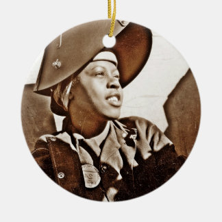African American Women Patriots Round Ceramic Decoration