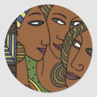 African American women sister friends Classic Round Sticker
