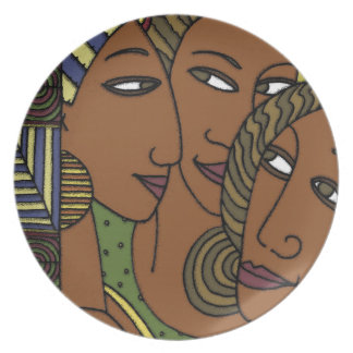African American women sister friends Plate