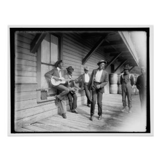 African Americans Waiting for the Boat c1902 Poster