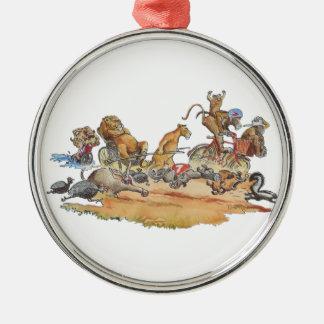 African Animal Race Christmas Ornament