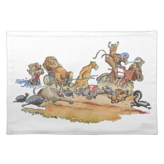 African Animal Race Placemat