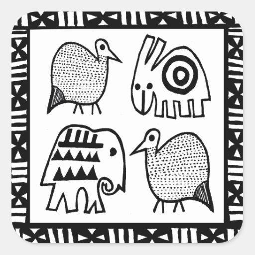 African Animal Spirits Sticker