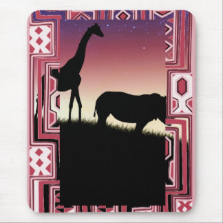 African Animals Mouse Mat
