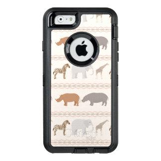 African animals pattern 1 OtterBox defender iPhone case
