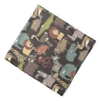 African Animals Pattern Bandana