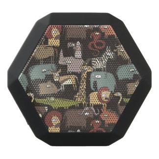 African Animals Pattern Black Bluetooth Speaker