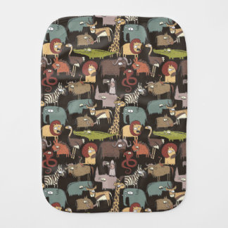 African Animals Pattern Burp Cloth