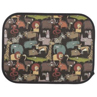African Animals Pattern Car Mat