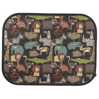 African Animals Pattern Floor Mat