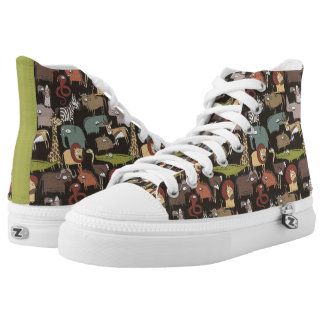 African Animals Pattern High Tops